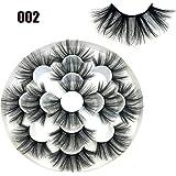 SKONHED 7 Pairs Woman' Fashion Wispy Fluffy Hair Dramatic Long Can Be Trimmed 8D Mink Hair False Eyelashes Eye Lash…