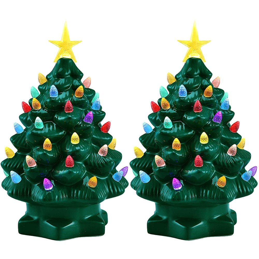 Amazon.com: Mr. Christmas (2 Pack) 7 Porcelain Christmas Tree Decoration