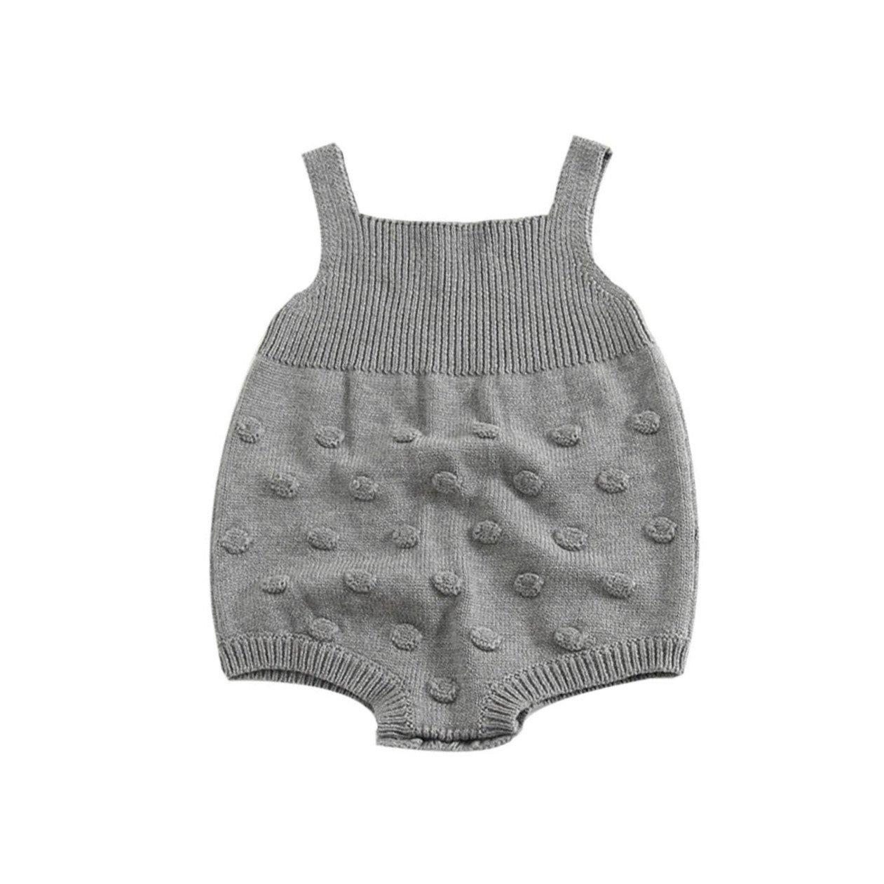 SHOBDW Girls Rompers, Baby Kids Girl Autumn Knitted Overalls Small Balls Infant Jumpsuit Romper SHOBDW-88