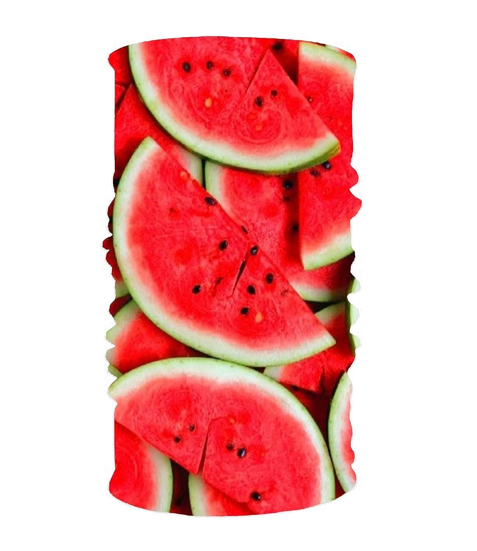 eFyh HorribleスカルマジックスカーフWorks面マスクとしてNeck GaiterヘッドバンドBalaclava  watermelon pieces9 B07DPHCMGM