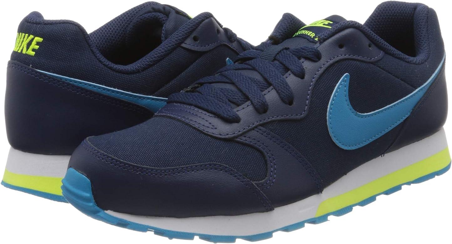 Nike MD Runner 2 (GS), Zapatillas Unisex niños, Azul Midnight Navy Laser Blue Lemon 415, 35.5 EU: Amazon.es: Zapatos y complementos