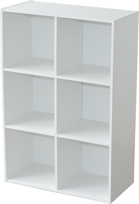 Alsapan 94046 Compo 08 - Estantería con 6 repisas, color blanco, 61,5 x 29,5 x 91,1 cm