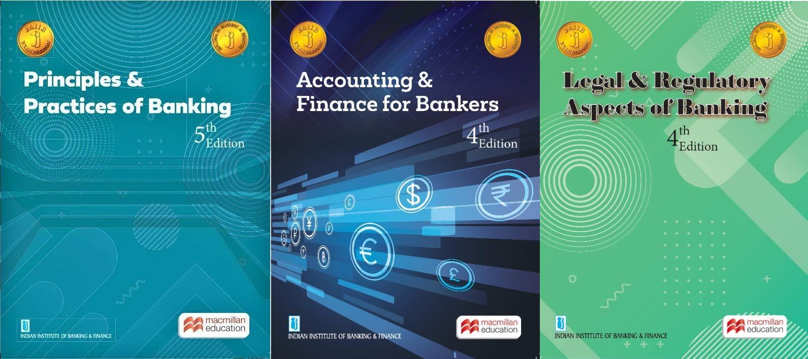 JAIIB – PPB + Accounts + LAB – Macmillan – New Latest Editions – Set of 3 Books