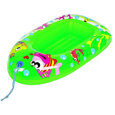 "44"" Inflatable Green Sea Life Children's Swimming Pool Boat Raft Float: Toys & Games"