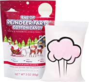 Bag Of Reindeer Farts Cotton Candy Funny Unique Christmas Stocking Stuffer Present For Kids Adults Boys Girls Men Women Teens Teachers White Elephant Office Party Fun Unique Holiday Surprise