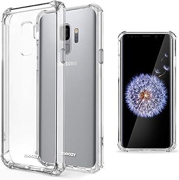 Moozy Coque Silicone Transparente pour Samsung S9 - Anti Choc Crystal Clear Case Cover Étui de Flexible Souple TPU