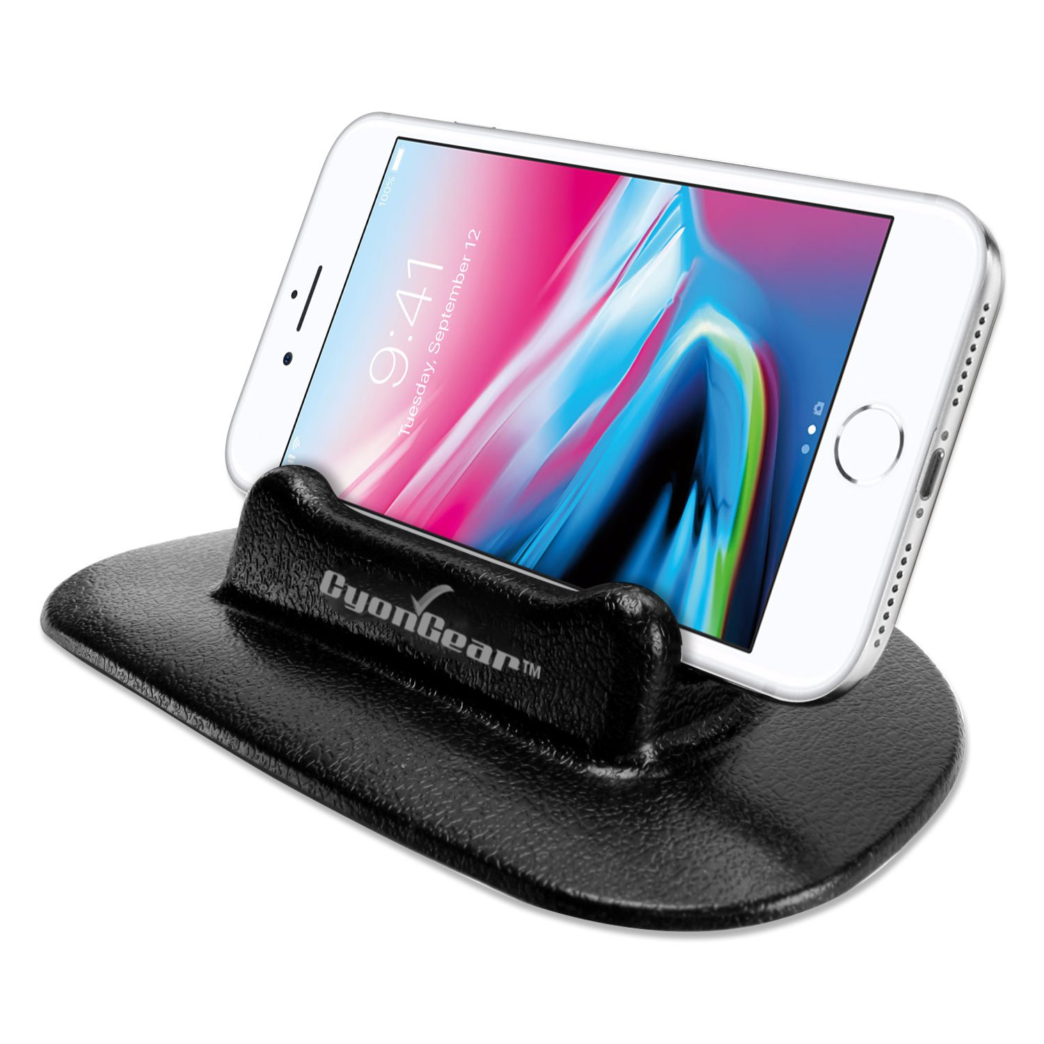 Cellphone Cellet PH2211 CyonGear Universal Silicone Dashboard Anti-Slip Mount Holder Compatible for Compatible for iPhone Xs//Max//Xr//X//8//8Plus//7//6//5 Note 9//8//5 Galaxy S9//8//7//6 Google Pixel XL Motorola LG HTC GPS