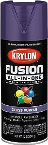 Krylon K02719007 Fusion All-In-One Spray Paint, Purple