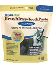 Ark Naturals Brushless Toothpaste, Dental Chews for Dogs, Plaque, Tartar, and Bacteria Control, Freshen Breath, Chewable, Natural Ingredients (Packaging May Vary)