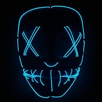 Máscara De Halloween LED Light Up Party Máscaras The Purge ...