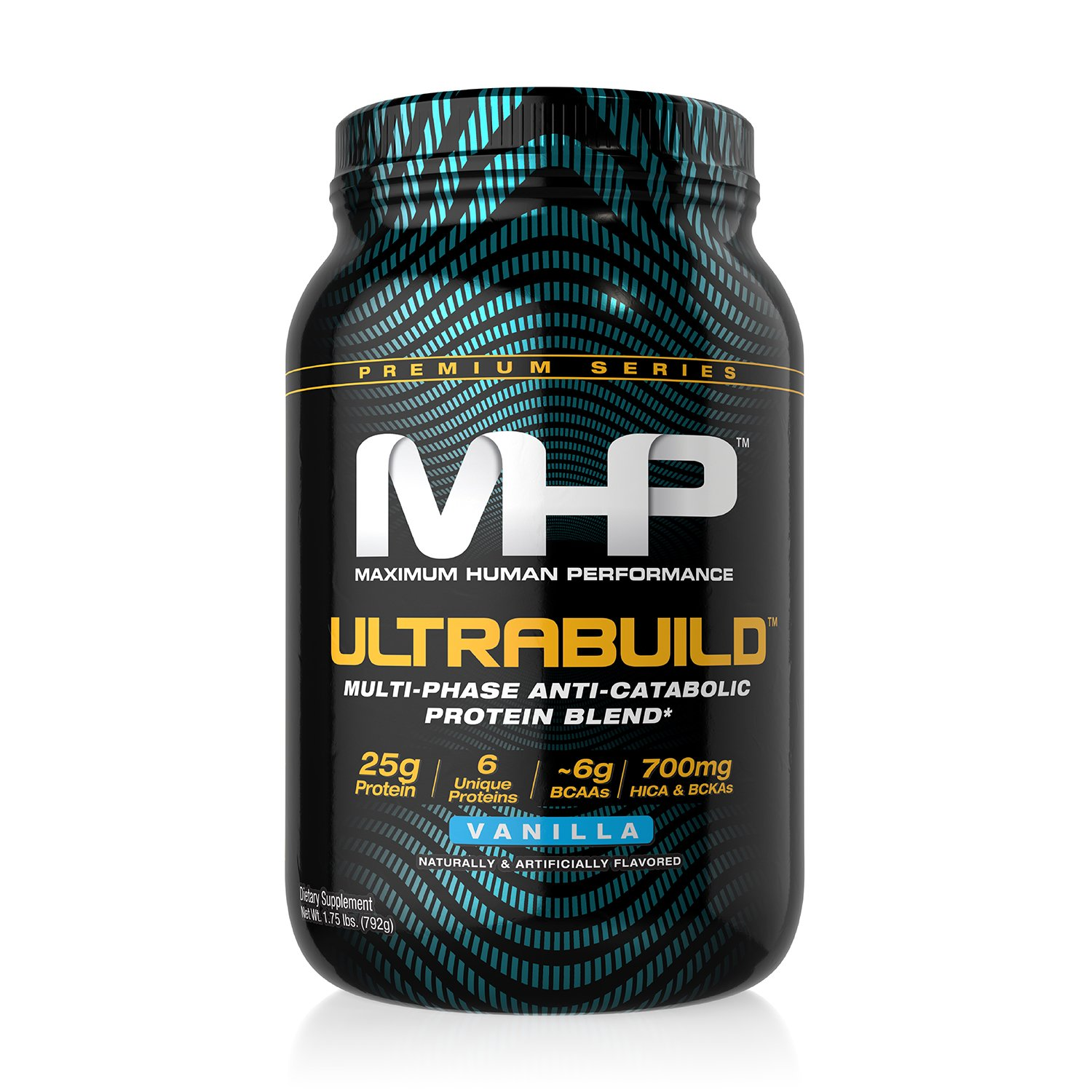 MHP Ultra-Build Protein, Vanilla, 2 lb
