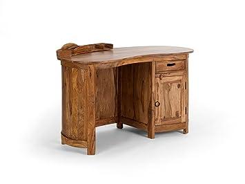 Massivum bureau ovale monroe en bois de palissandre clair