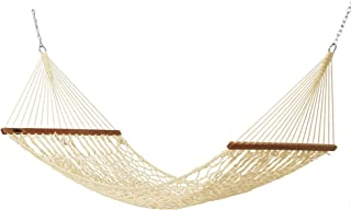 product image for Hatteras Hammocks DC-11OT Small Oatmeal Duracord Rope Hammock with Free Extension Chains & Tree Hooks, Handcrafted in The USA, Accommodates 1 Person, 450 LB Weight Capacity, 11 ft. x 45 in.