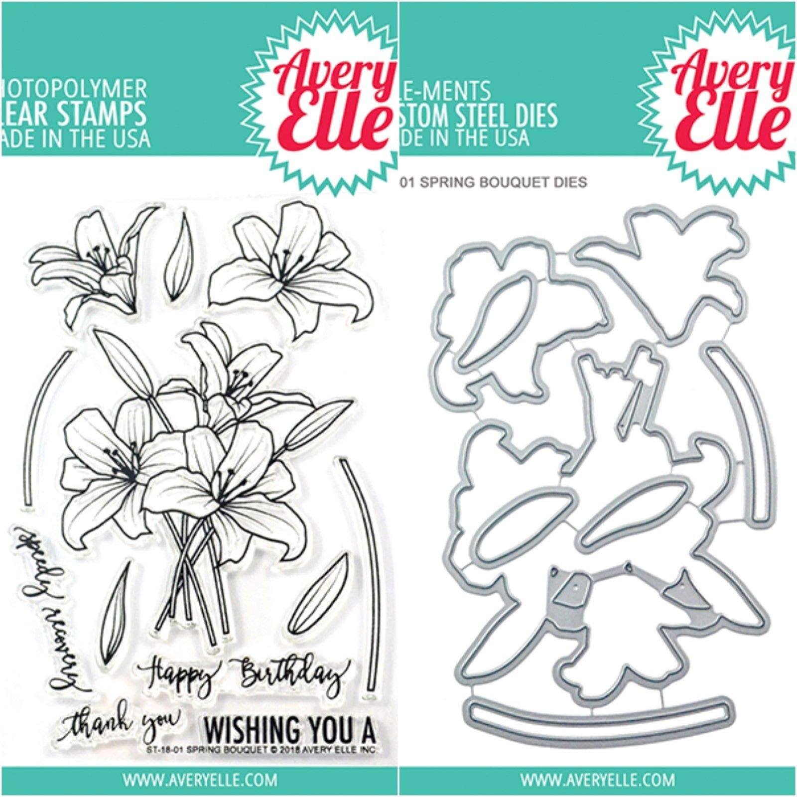 ShopForAllYou Stamping & Embossing (Stamp & Die Bundle)''Spring Bouquet'' Clear Stamps Only OR Clear Stamp