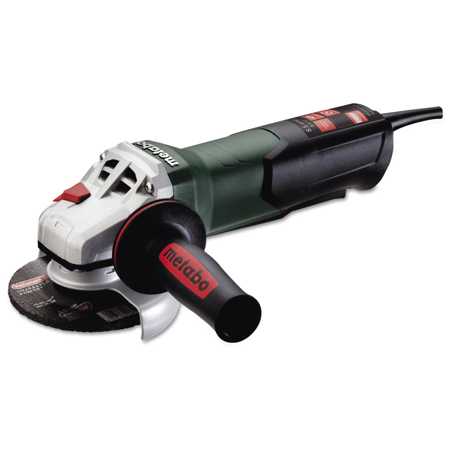 Metabo WP9-115Q 900 Watt 4 1/2'' Angle Grinders, 8.5 A, 10,500 rpm, Paddle Switch, Non-Locking