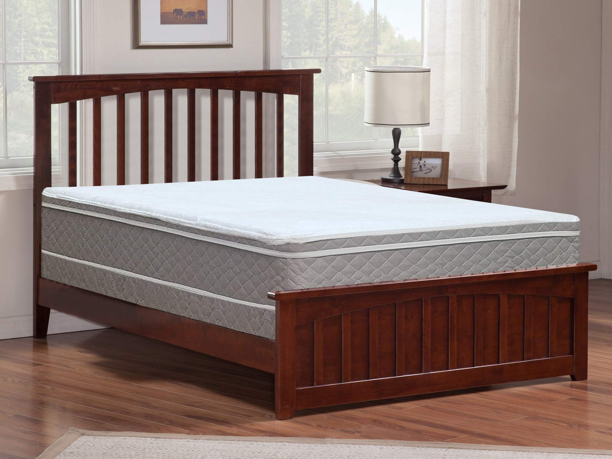 Mayton 10'' Twin Size Mattress And Box Spring- Pillow Top Euro Top Natural Sleep Solution/Soft & Supportive,No Assembly Required 39''x 74'' by Mayton