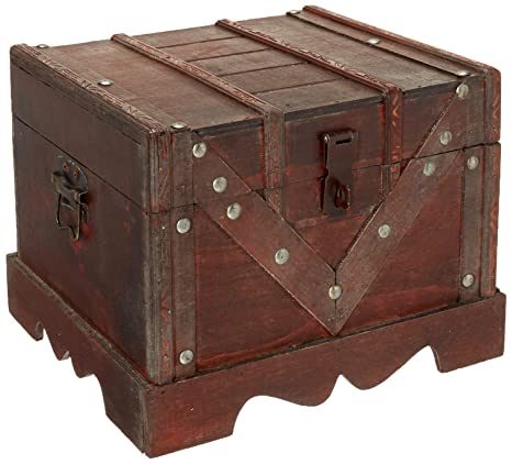 Vintiquewise Qi003027s Small Wooden Box Old Style Treasure Chest
