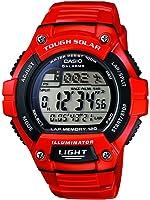 Casio W-S220C-4AVEF - Reloj de cuarzo para hombre, correa de resina color rojo