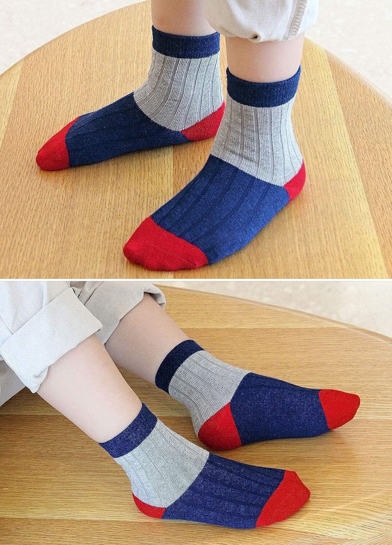 2-11 Jahre Kinder Socken Bunt Gemustert Sneaker Socken 5 Paare Jungen Socken Kinder Str/ümpfe aus Baumwolle