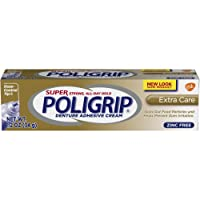 Super Poligrip Extra Care Denture Care Adhesive Cream with Poliseal, 1.2 Ounce