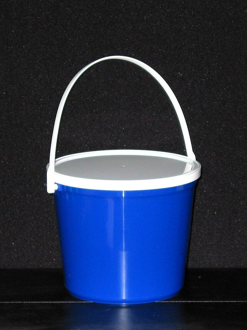 Plastic Buckets & Lids, 80 Ounces, 6 Pack,1 each Red Blue Yellow Orange Purple & Green by Talisman (Image #7)