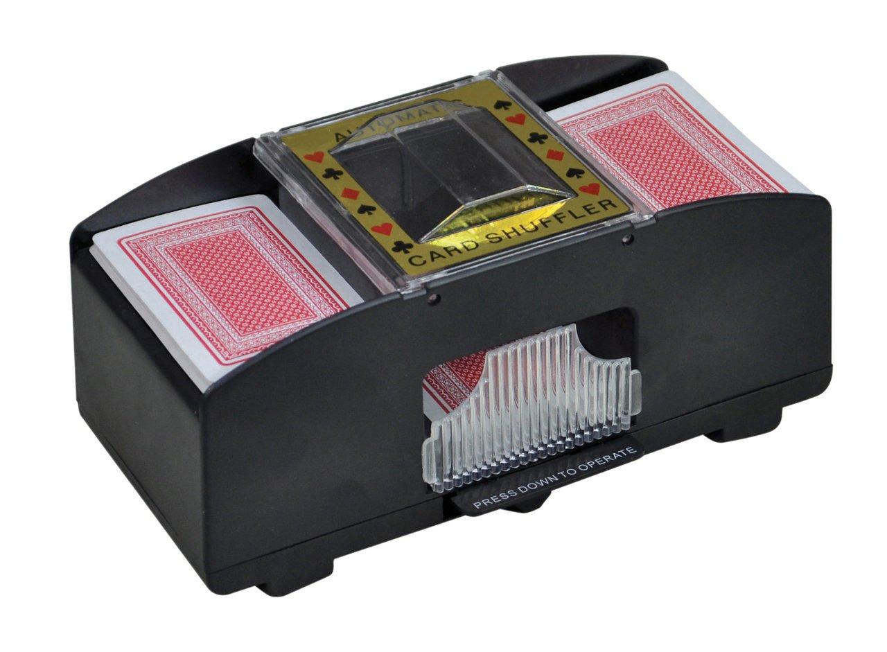 Automatischer Kartenmischer Kartenmischmaschine Mischmaschine mit 2 Decks batteriebetrieben Emanhu Trading