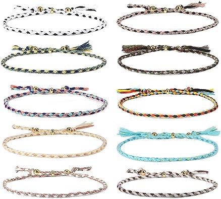 1 Pcs Femmes Hommes Bracelet Love tissage tressé vintage cadeau pour la saint valentin