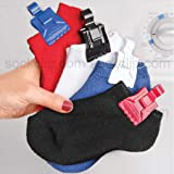 The Amazing Sock Clip, 32 Clips, BLACK, Made In U.S.A.