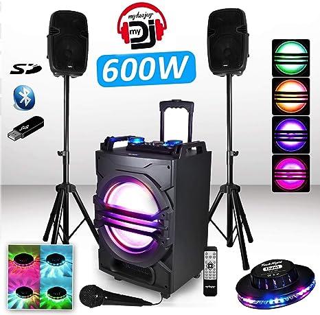 MyDJ: pack sistema trifónico amplificado SONO DJ MyDJ MDJ600 600W ...