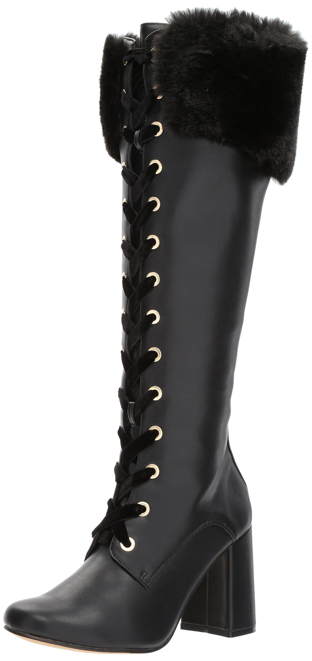 Nanette Lepore Women's Flora Knee High Boot, Black, 9 M US