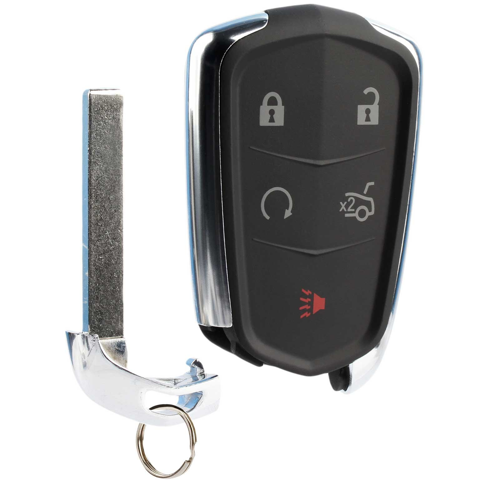 Car Key Fob Keyless Entry Remote fits Cadillac ATS CTS Escalade SRX XTS 2014 2015 2016 2017 (HYQ2AB)