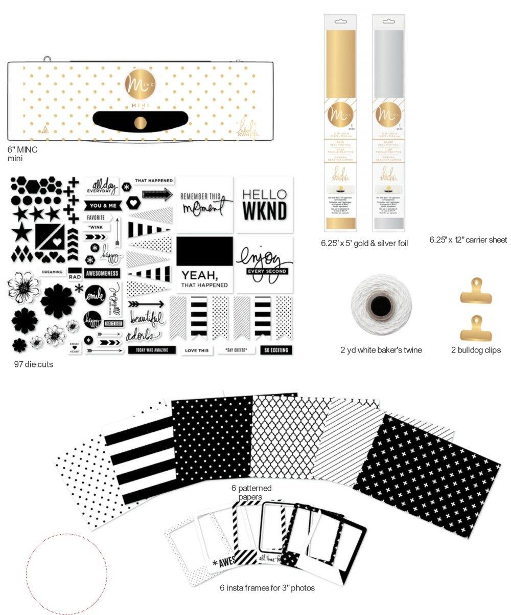 American Crafts Heidi Swapp 6'' Mini MINC Foil Applicator Bundle