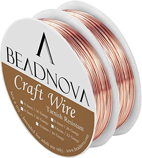 0.4mm Copper French Color Coated Beading Craft Wire 28 Gauge Assorted 10 Spools