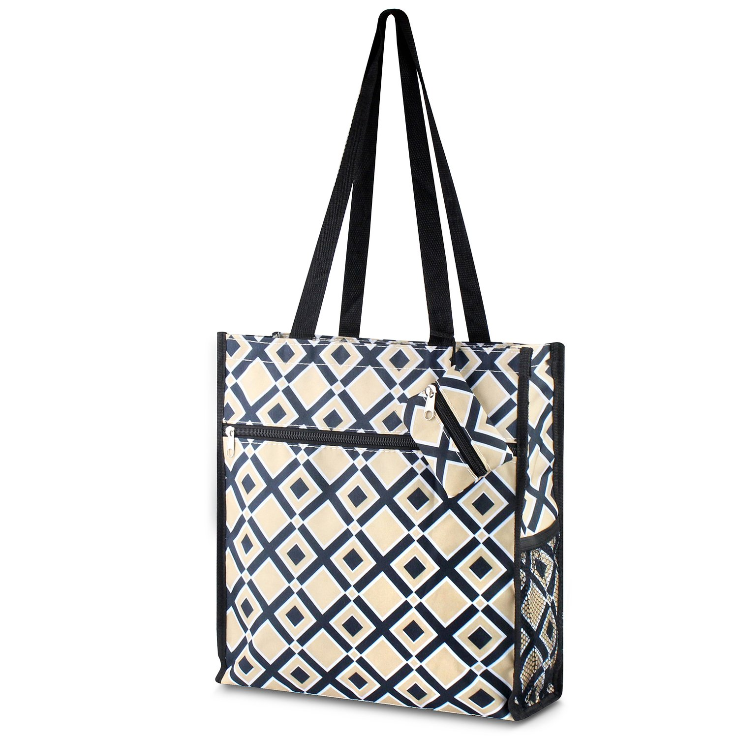 Multi-color Music Note Zodaca Lightweight All Purpose Travel Tote Bag
