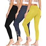 MOLYBELL 3 Pack Yoga Pants for Women Skiny High Waist Fitness Leggings Workout with Pockets Active Pants