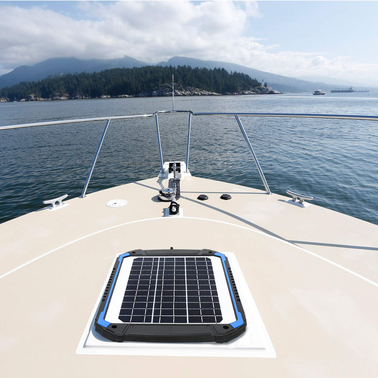SUNER POWER 12V Solar Car Battery Charger & Maintainer - Portable 14W Solar Panel Trickle Charging Kit for Automotive, Motorcycle, Boat, Marine, RV, Trailer, Powersports, Snowmobile, etc. by SUNER POWER (Image #7)