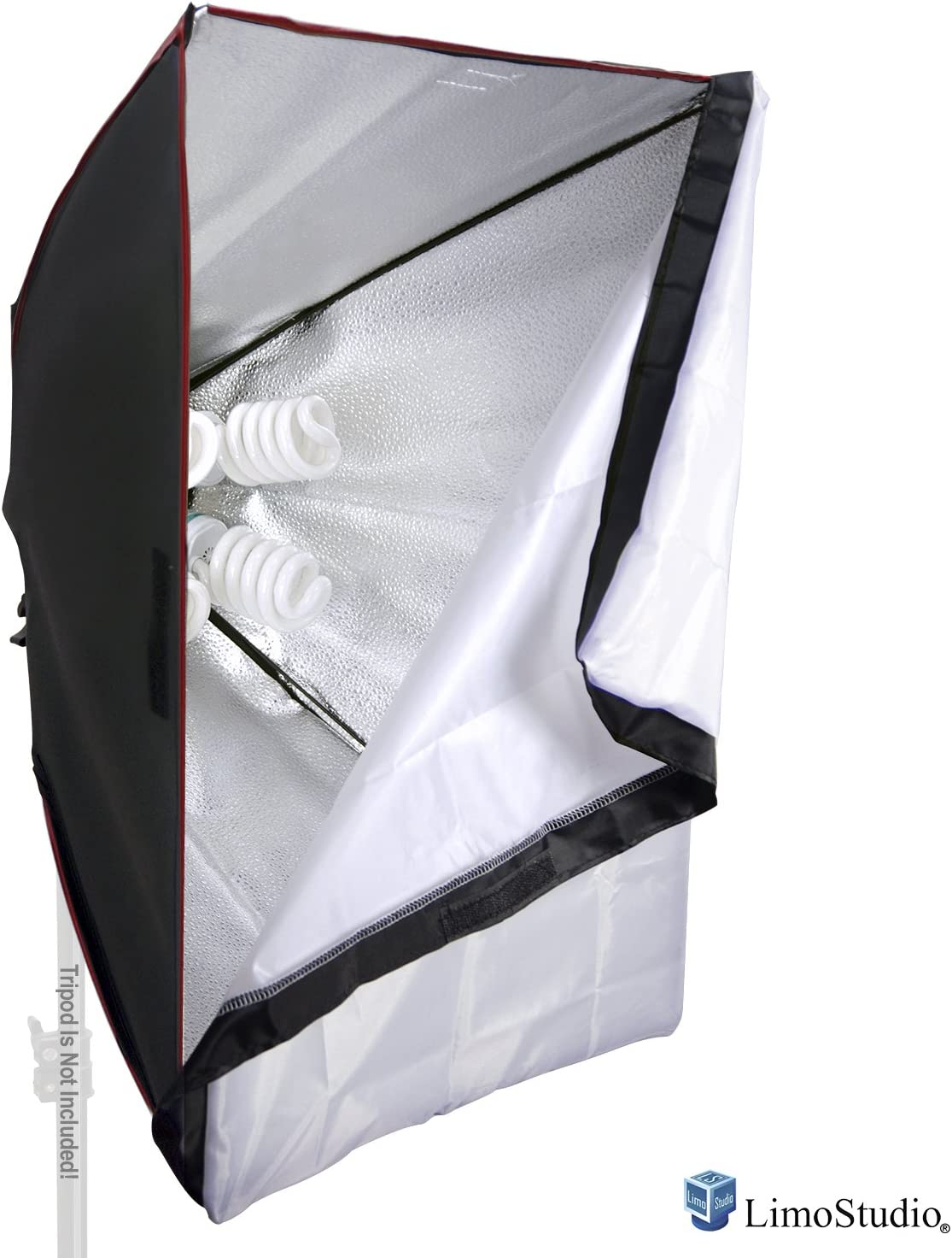 Photo Studio AGG2275 LimoStudio Large 24 inch by 36 inch Softbox with Individually Controlled Five Socket Bulb Base and Detachable Fabric Diffuser Cover for Photography and Video Shooting