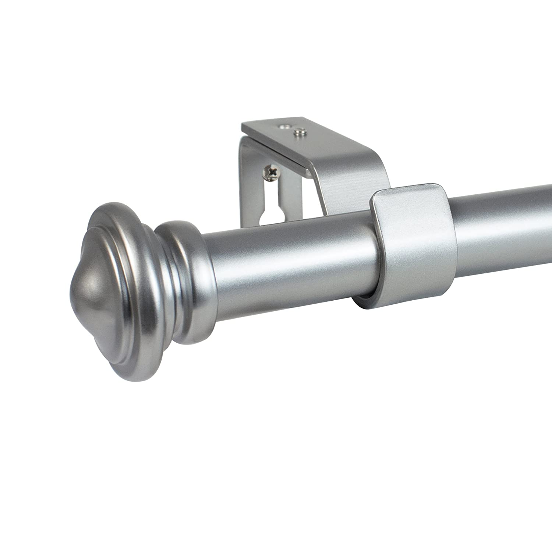 Decopolitan 29778-BZ18 Cap Single Telescoping Drapery Rod Set Bronze Beme International Short