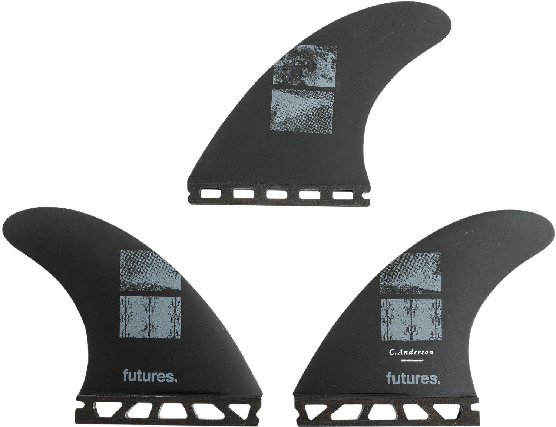 Futures Fins Ando Blackstix 3.0 Black Thruster Surfboard Fins Large Craig Anderson model