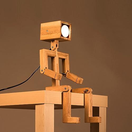 Table Lamp Man Wood: Amazon.co.uk