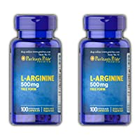 Puritan's Prider L-Arginine 500mg 100 Capsules - Pack of 2