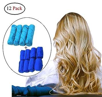 Kinxor - Rizadores de pelo para dormir, 12 unidades de rodillos absorbentes para el sueño