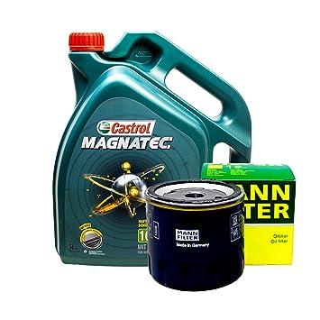 Set 5L de aceite Castrol 10 W de 40 + Muñeco de aceite: Amazon.es: Coche y moto