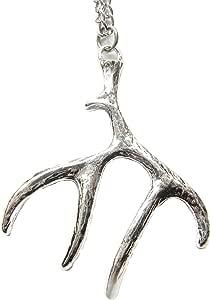 Deer Jewelry Deer Necklace Skullborough Fair Necklace silveremerald Hunting Deer Accessories Nature Jewelry Hunting Necklace