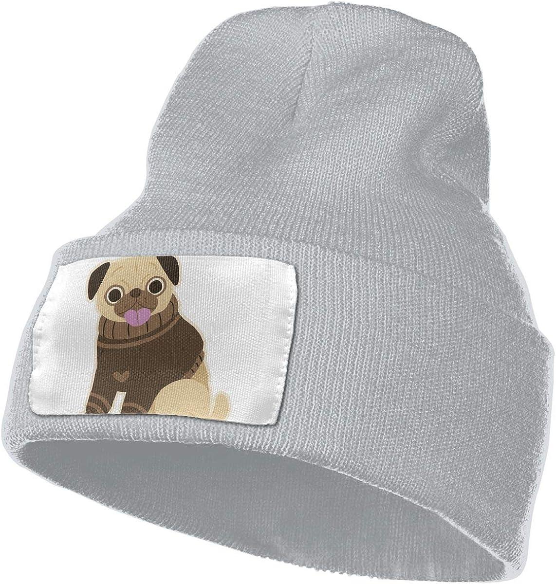 Real Men Love Pugs Dog Unisex Fashion Knitted Hat Luxury Hip-Hop Cap