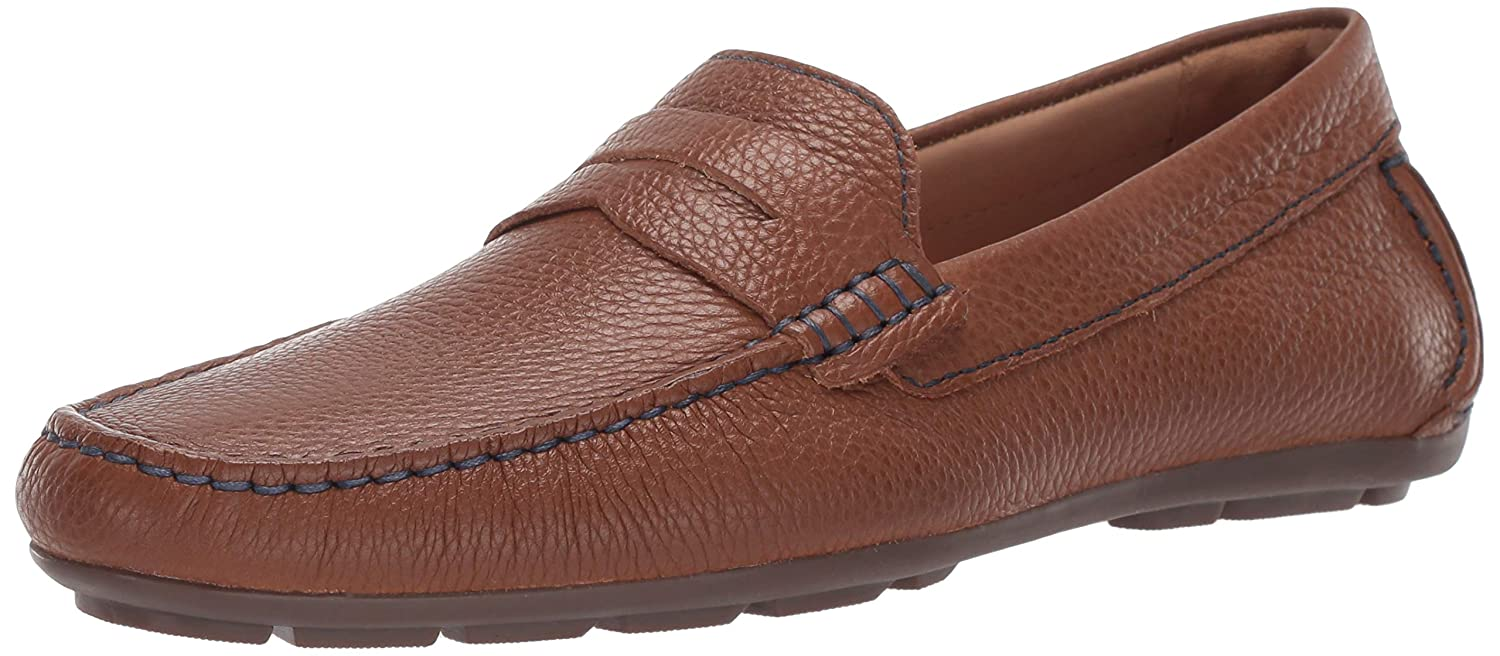 Cognac Grainy Driver Club USA Mens Mens Genuine Leather Made in Brazil Hollywood Loafer Loafer