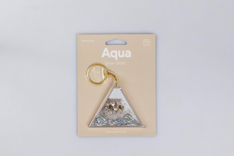 Amazon.com  Doiy Aqua Liquid Filled Keychains (Silver Glitter)  Office  Products 802635dbc