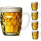 Dimple Stein Beer Mug - 19 Oz (4 Pack)