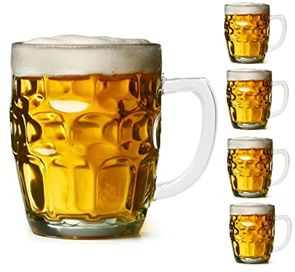 amazon com dimple stein beer mug 19 oz 4 pack beer mugs steins