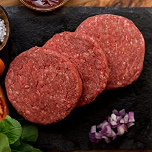 40 (4oz) Organic, Grass-Fed Beef Patties - USDA certified organic, all natural, grass fed beef patties from american farmers